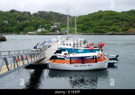 glass bottom boat harbour trips in menorca balearic