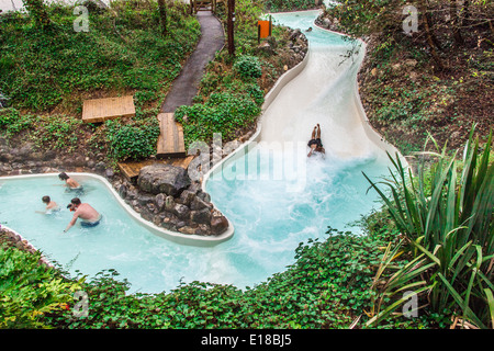 The Outdoor Swimming Pool Rapids Slide At Center Parcs Longleat Stock Photo Royalty Free Image