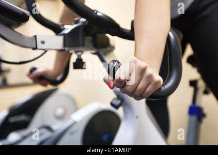 training in fitness center - Stock Photo