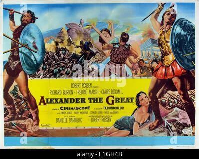 'Alexander the Great' a 1956 American epic film about the life of Macedonian general and King Alexander the Great - Stock Photo