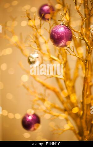 Gold Merry Christmas Winter Background - X-mas art Design - Stock Photo