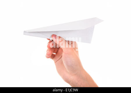 Paper Plane in a Hand - Stock Photo
