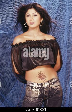 Portrait Of Indian film actress Shilpa Shetty - Stock Photo