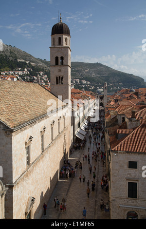 Dubrovnik old town minceta roofs bell tower belfry croatia - The house in the old franciscan tower ...