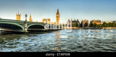 panorama shot of Big Ben - Stock Photo