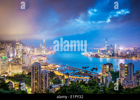Hong Kong, China City Skyline - Stock Photo