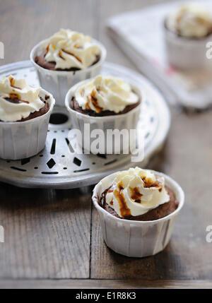 Coffee cupcakes - Stock Photo
