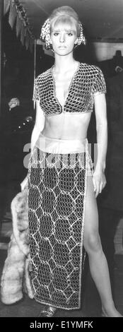 London, UK, UK. 14th Apr, 1967. Model, actress VICKI HODGE at the movie premiere of 'Casino Royale' at the Odeon - Stock Photo