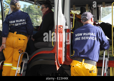 A New South Wales Fire Brigade Vehicle On Its Way To
