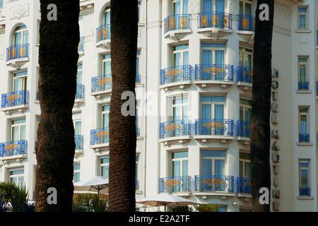 France, Alpes Maritimes, Cannes, Hotel Martinez - Stock Photo