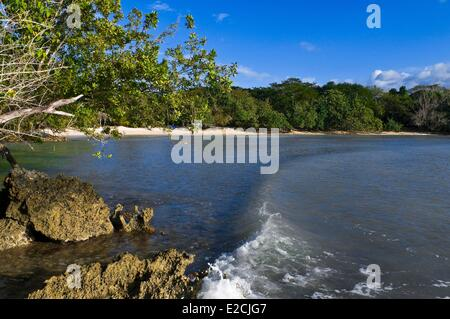 Jamaica, West Indies, west coast, parish of Westmorland, area of Negril, Half Moon Beach - Stock Photo