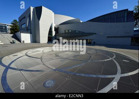 france morbihan lorient grand theatre by the architect henri gaudin stock photo royalty free. Black Bedroom Furniture Sets. Home Design Ideas