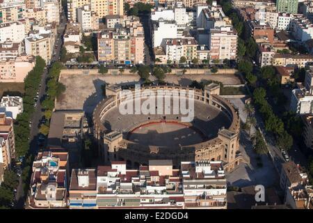 Spain, Balearic islands, Mallorca, Palma de Mallorca, Arena (aerial view) - Stock Photo