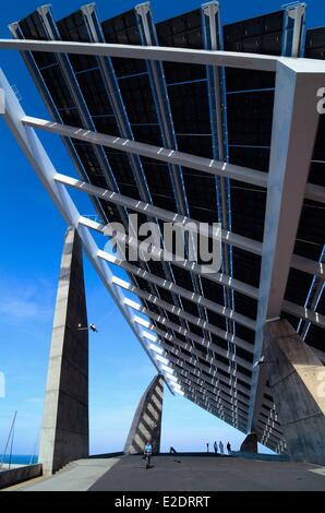 Solar panel parc del forum barcelona stock photo - Solar barcelona ...