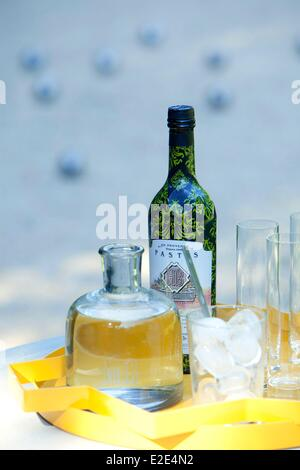 france bouches du rhone aperitif in provence with the pastis bleu stock photo royalty free. Black Bedroom Furniture Sets. Home Design Ideas