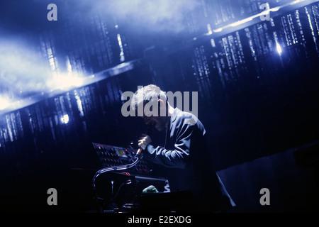 Massive attack music band live at Sonar Barcelona, Spain - Stock Photo