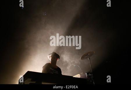 Denmark´s Trentemoller performing live at sonar music festival in Barcelona, Spain - Stock Photo
