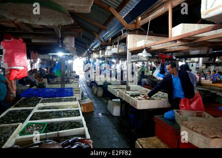 Indonesia bali jimbaran fishing village stock photo for Village fish market