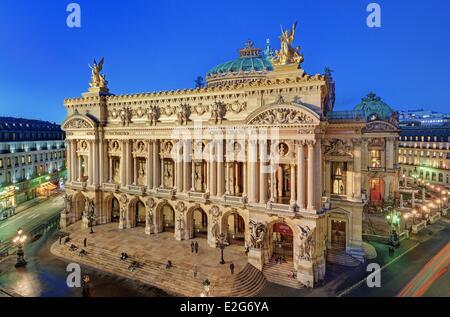 France Paris Garnier opera house - Stock Photo