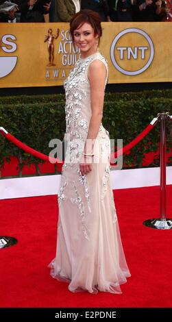 19th Annual Screen Actors Guild (SAG) Awards held at the Shrine Auditorium - Arrivals  Featuring: Guest Where: Los - Stock Photo