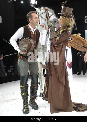 2013 Chocolate Fashion Show held at Le Salon du Chocolat  Featuring: Sophie Thalmann,Jean-Philippe Doux Where: Paris, - Stock Photo