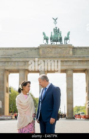 Berlin, Germany, Aung San Suu Kyi, NLD, and Klaus Wowereit, SPD - Stockfoto