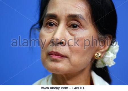 Berlin, Germany, Aung San Suu Kyi, chairperson of the NLD - Stock Photo