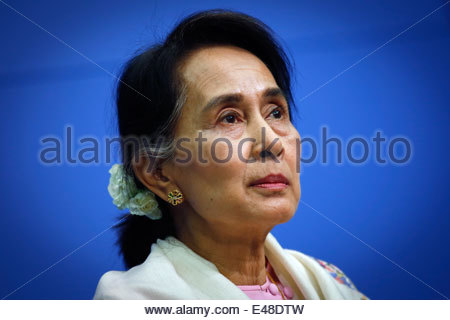 Berlin, Germany, Aung San Suu Kyi, chairperson of the NLD - Stockfoto