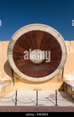 Jantar Mantar, giant astronomical observatory in Jaipur, India. - Stock Photo