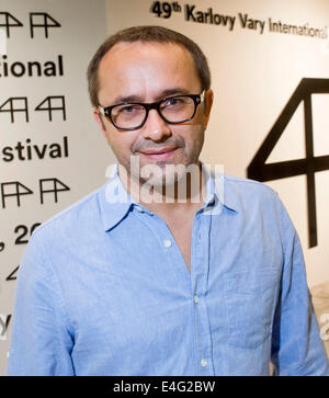 Karlovy Vary, Czech Republic. 9th July, 2014. Russian director Andrei Zvyagintsev attends a screening of his competitive - Stock Photo