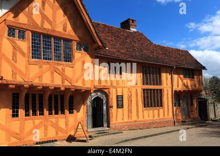 Little Hall Market square, Lavenham village, Suffolk County, England, Britain. - Stock Photo