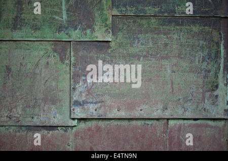 Background old metal plate. - Stock Photo