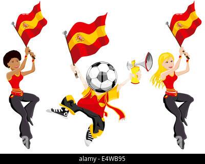 Spain Soccer Supporters. - Stockfoto