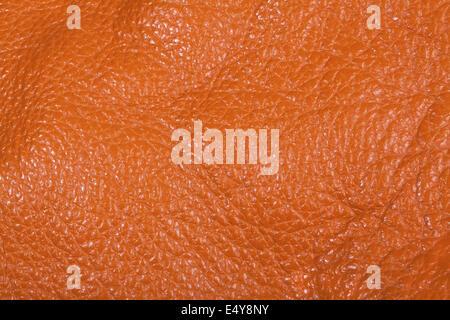 Orange leather texture background - Stock Photo