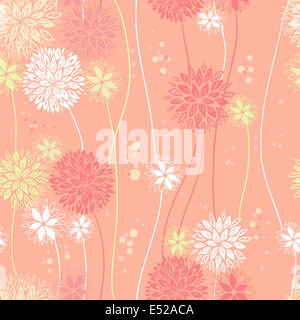 Vintage floral seamless pattern - Stock Photo