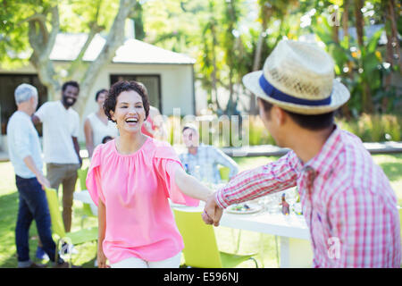 Couple dancing at party - Stock Photo