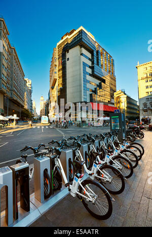 Bicimad public bike sharing system parking, Madrid Stock ...