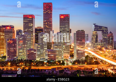 Beijing, China skyline at the central business district. - Stock Photo
