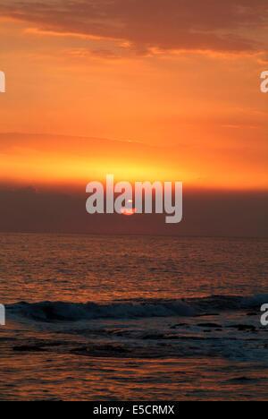 Sunset, Treasure Beach, Jamaica - Stock Photo