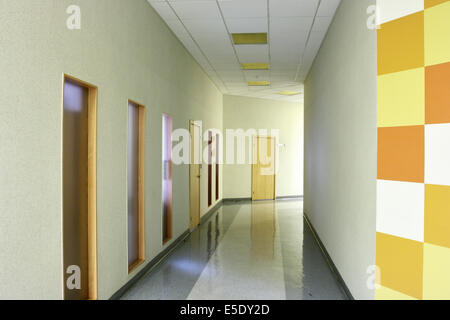 Perspective of the corridor at modern office - Stock Photo