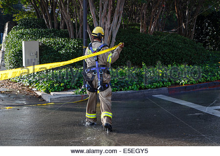 Los Angeles, California, USA. 29th July, 2014. Los Angeles Fire Department (LAFD) and Los Angeles Department of - Stock Photo