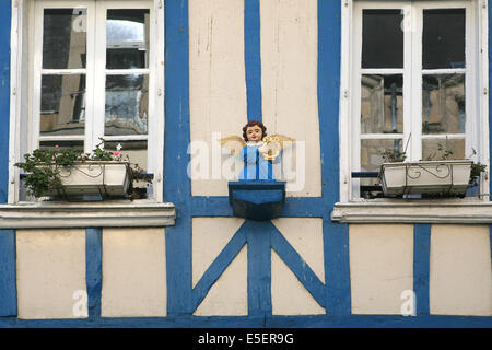 france finistere quimper medieval houses rue kereon stock photo royalty free image 70301845. Black Bedroom Furniture Sets. Home Design Ideas