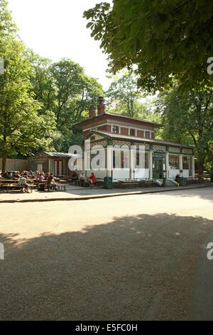Open air restaurant rosa bonheur terrace of the cafe for Restaurant jardin ile de france