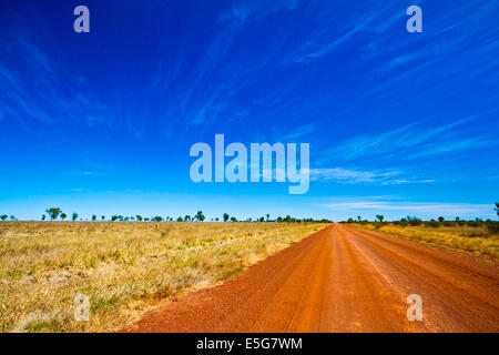 The Savannah Way stretches for 3700kms passing through 3 states in northern Australia. It is a spectacular journey. - Stock Photo