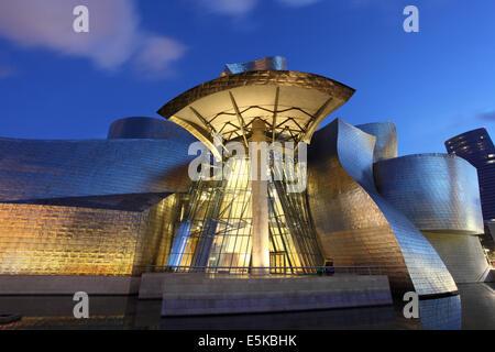 Guggenheim Museum of Contemporary Art in Bilbao, Spain - Stock Photo