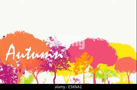 Abstract Autumn Natural Background Vector Illustration - Stock Photo