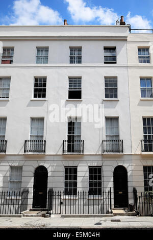 Georgian terraced town houses in London, England - Stock Photo
