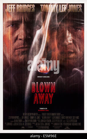 BLOWN AWAY, US poster, from left: Jeff Bridges, Tommy Lee Jones (right), 1994. © MGM/courtesy Everett Collection - Stock Photo