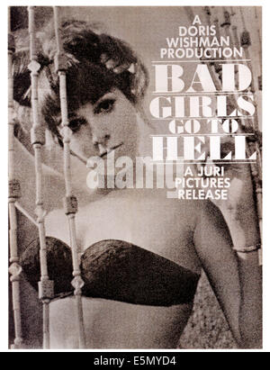 BAD GIRLS GO TO HELL, poster art, 1965. - Stock Photo