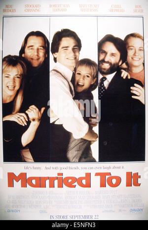 MARRIED TO IT, from left: Stockard Channing, Beau Bridges, Robert Sean Leonard, Mary Stuart Masterson, Ron Silver, - Stock Photo
